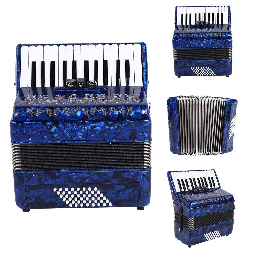 Accordion, 26-key 48 Bass Accordion Musical Instrumental supplies with Sheepskin Bellows Strap Bag(Blue) by Jacksking
