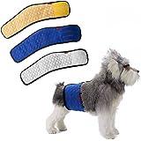 Mkouo (3 Stück Stecker Hund Männliche Hundewindel Urin Inkontinenz Wasserdicht Bauchband Pad Waschbar Windel