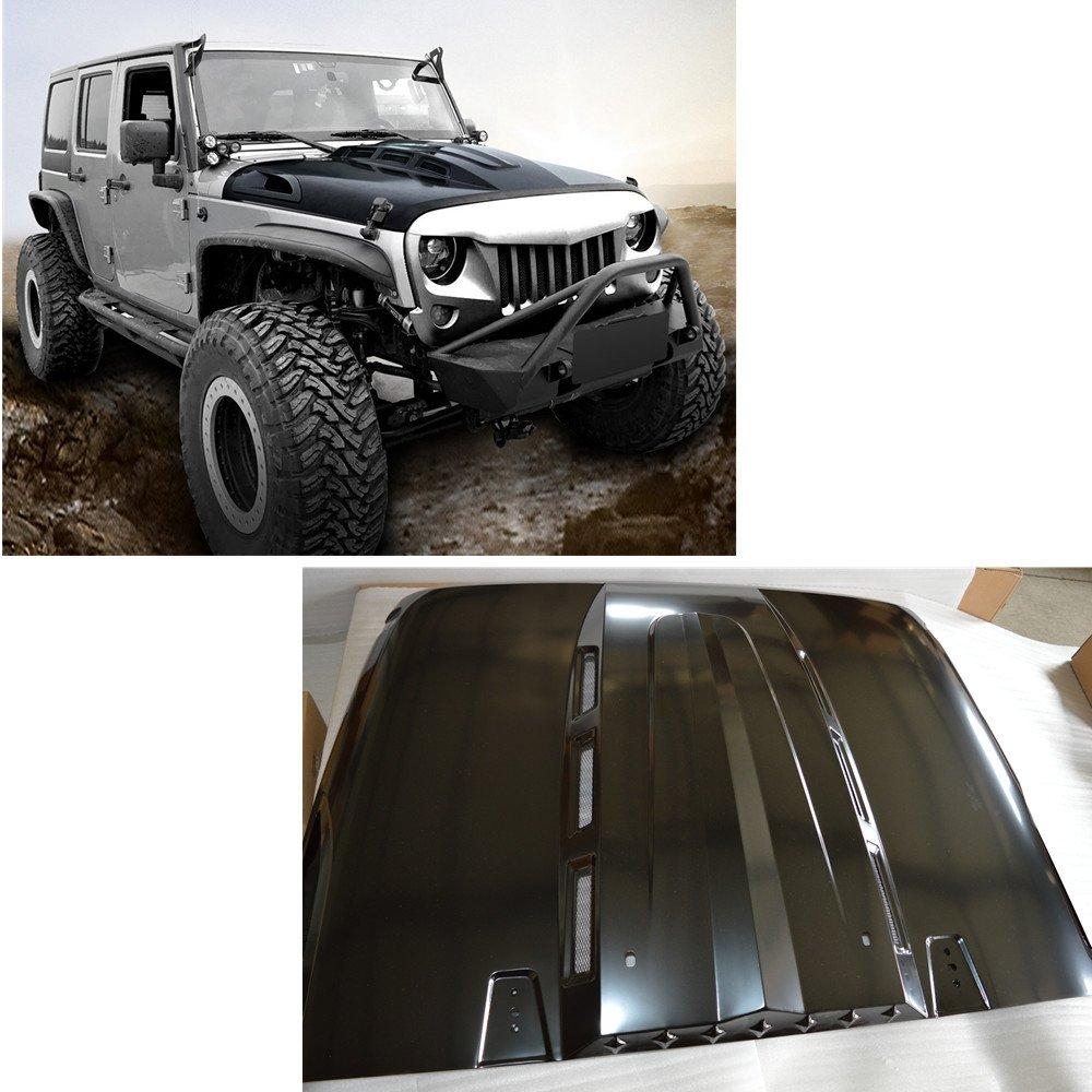 SXMA Jeep Avenger Series Heat Dispersion Steel Cowl Hood 07-17 Jeep Wrangler JK JKU SXMA Group