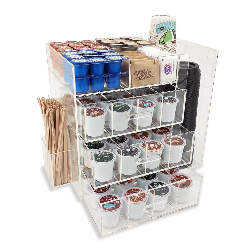 OnDisplay Acrylic Coffee Station with Drawers for Keurig K-Cup Coffee Pods by OnDisplay