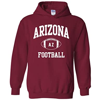 Arizona Classic Football Arch American Football Team Sports Hoodie - Small  - Cardinal 8ec124d7c