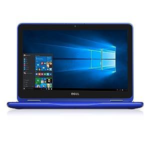 "Dell i3168-0028BLU 11.6"" HD 2-in-1 Laptop (Intel Celeron, 2GB, 32 GB SSD, Windows 10) - Blue"