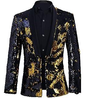 Amazon.com: PYJTRL Blazer de terciopelo con lentejuelas para ...