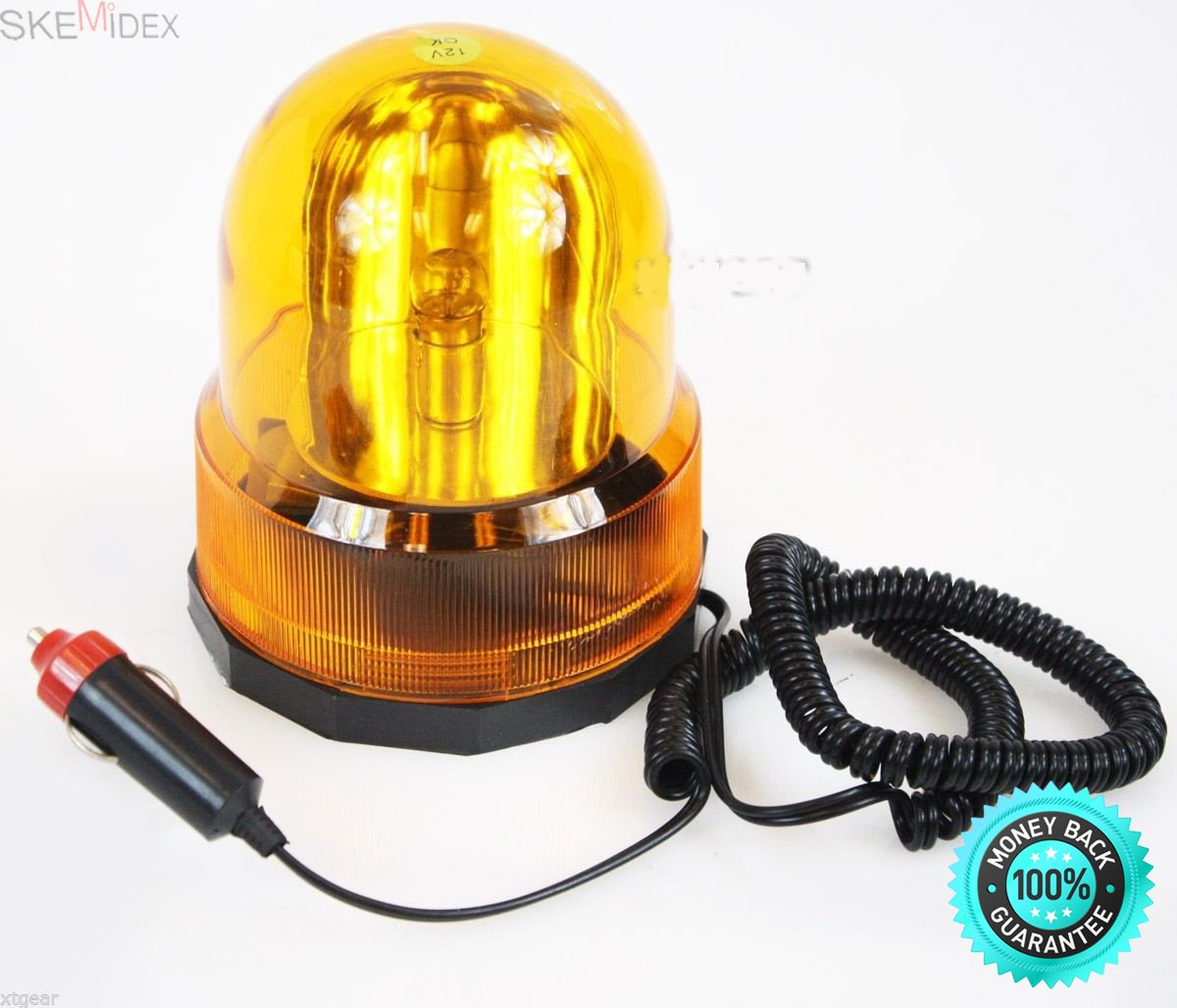 SKEMiDEX---Revolving Emergency Light Strobe Snow Plow Tow Truck Deck Flash Amber Warning Nw. This is a great emergency light ideal for use on vehicles where the use of a permanent light