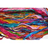 Amazon com: Darn Good Yarn Recycled Handmade Sari Silk Ribbon Tibet
