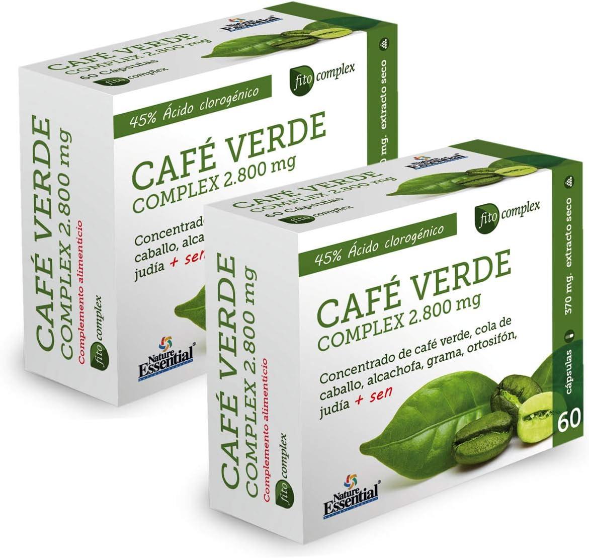 Café verde 2800 mg. (complex) 60 capsulas (Pack 2 unid.)