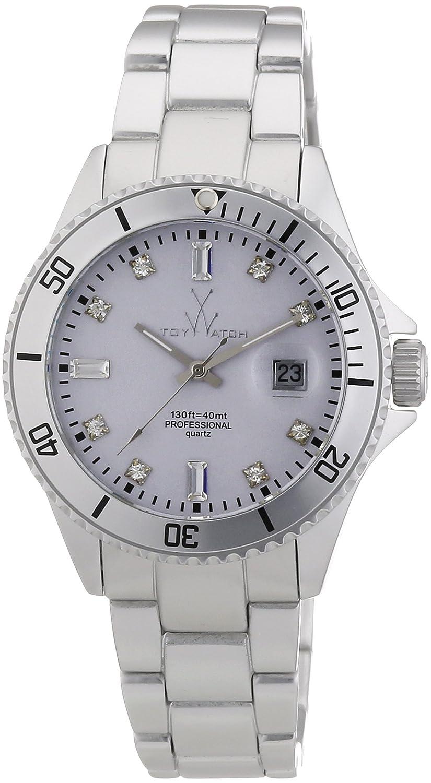 ToyWatch ME05SL - Reloj analógico de Cuarzo Unisex con Correa de Aluminio, Color Plateado
