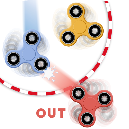 Online Board Games - Fidget spinner: 4 players game