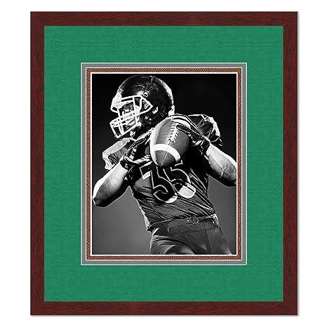 Amazon.com: Philadelphia Eagles Brown Wood Frame For a 5x7 Photo ...