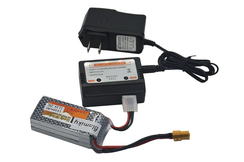 Blomiky 2 Pack 111v 3s 1500mah Lipo Battery With Xt60 Balancer Seven Segments Plug And 1 Charger For Rc Evader Bx Car Skylark M4 Fpv250 Mini Shredder 200 Qav250