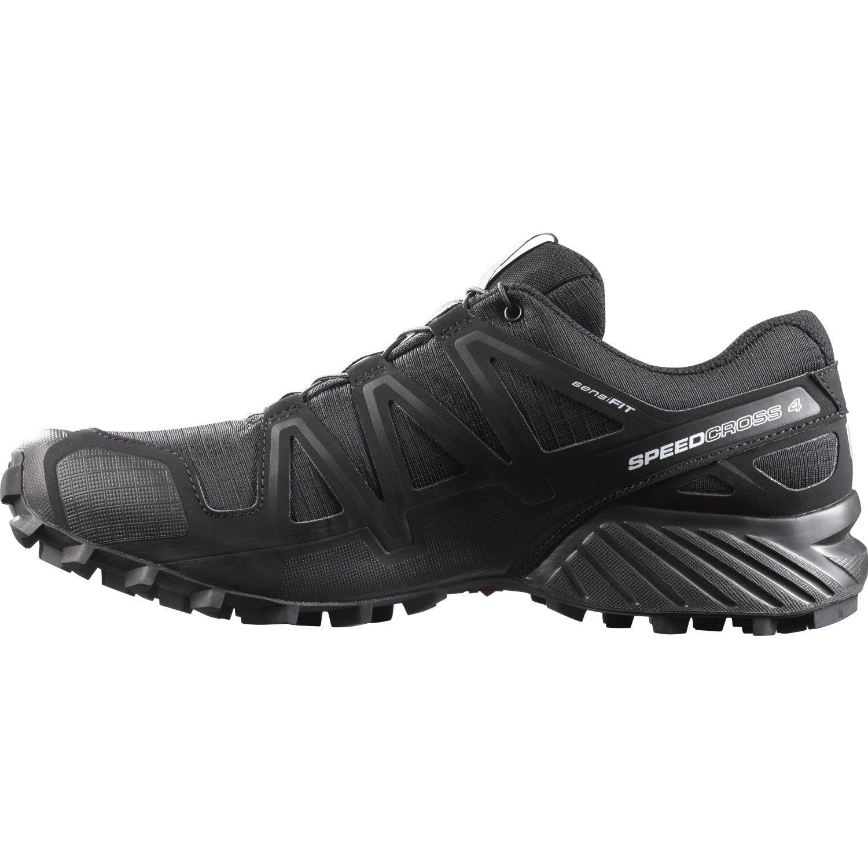 Salomon Men's B017SQWSZ8 Speedcross 4 Trail Runner B017SQWSZ8 Men's 8.5 M US|Black 073158