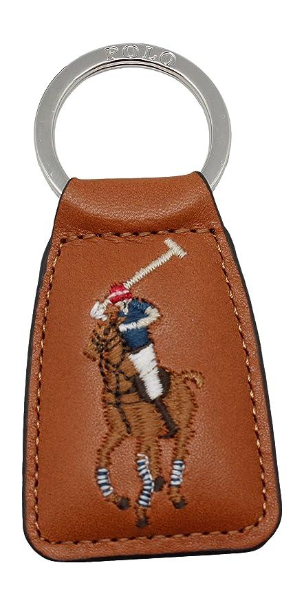 Ralph Lauren - Llavero de Piel, Color marrón: Amazon.es ...