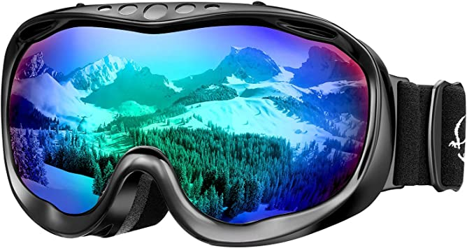 Women/'s Ski Goggles Sports Snowmobile Snowboard Ski Goggles Dual-Lens Snowboard