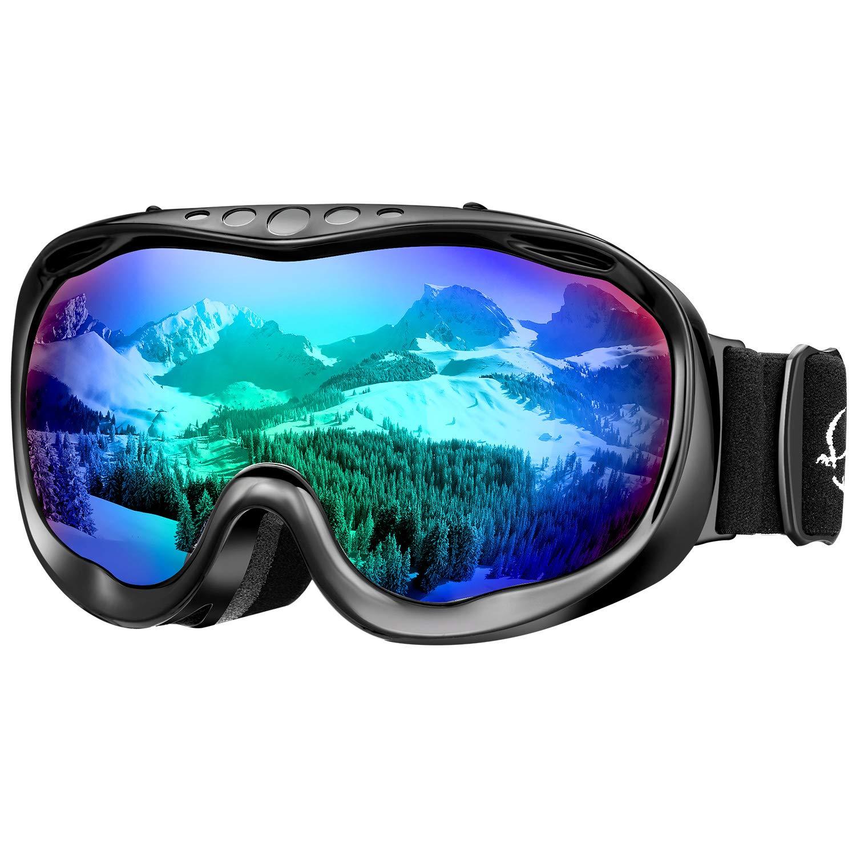 ENKEEO Gafas de Esquí Lente Doble Anti-Vaho 100% UV400 Protección Ski Goggles Snowboard