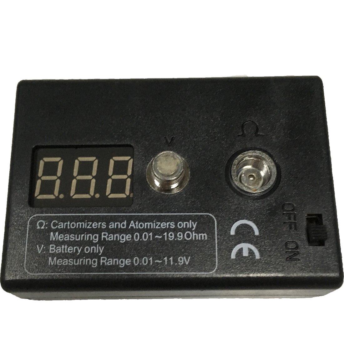 Tuopuke Black Rectange Plastic Made 510 Thread RDA RBA Resistance Tester Vape Ohm Meter Volt Meter CoiledVapr
