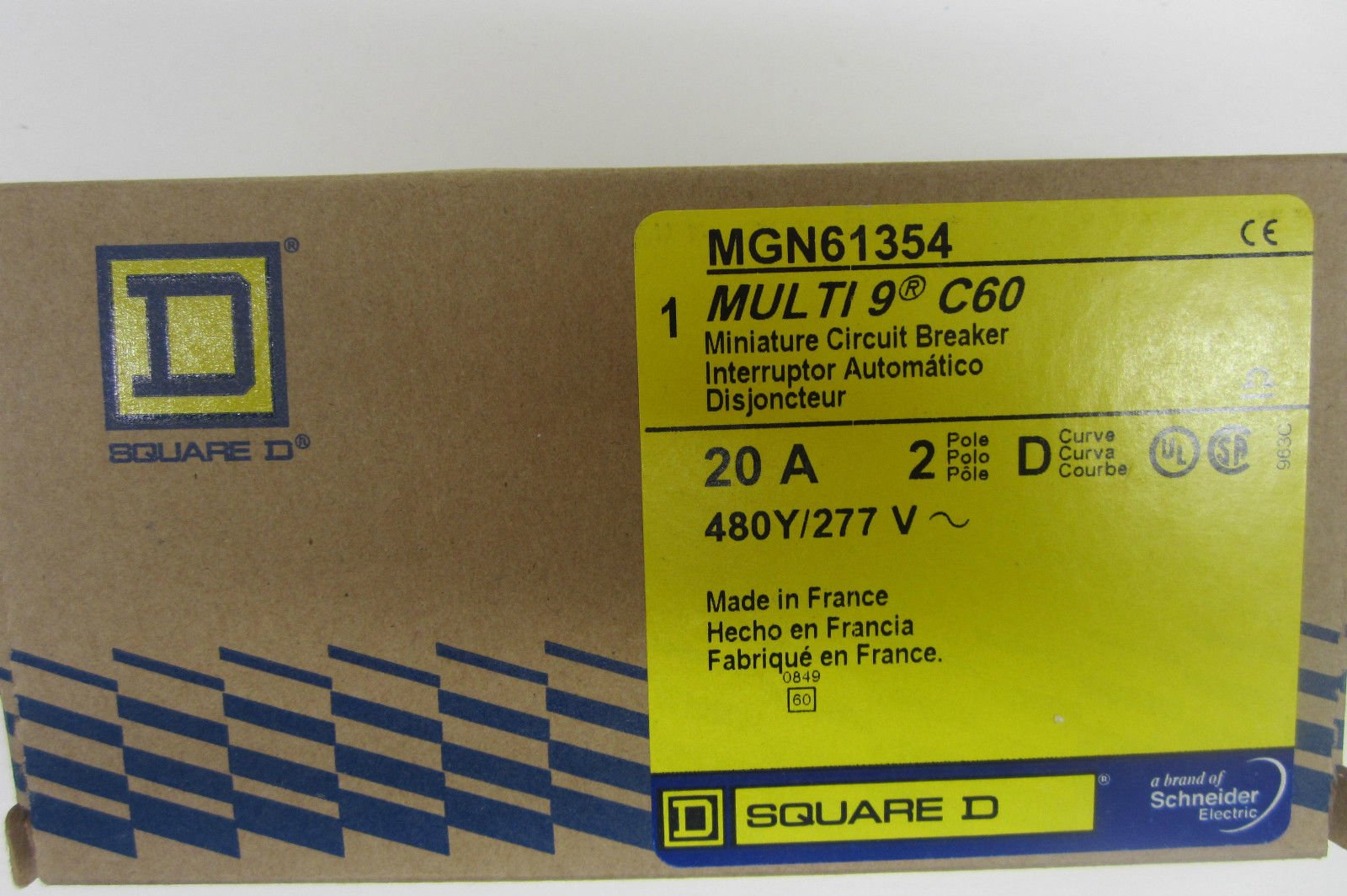 NEW SQUARE D MGN61354 CIRCUIT BREAKER