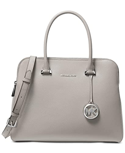 8db8122b5f4cc0 Amazon.com: MICHAEL Michael Kors Women's Houston Medium Double Zip Satchel Pearl  Grey One Size: Shoes