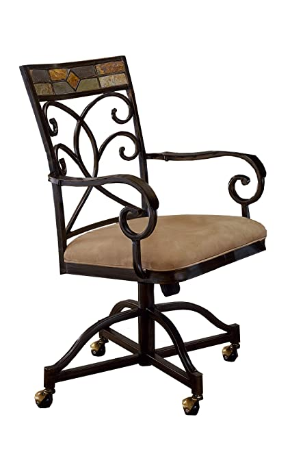 Hillsdale 4442 806 Hiillsdale Pompeii Caster Dining Chairs (Set Of 2)