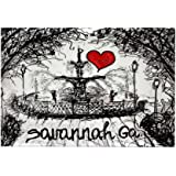 "CafePress - I love savannah Ga Rectangle Magnet - Rectangle Magnet, 2""x3"" Refrigerator Magnet"