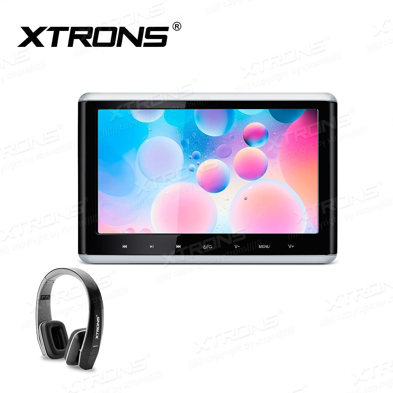 XTRONSタッチパネル10.2インチHDデジタルTFT画面1080pビデオ車アクティブヘッドレストDVDプレーヤー シルバー HD1003HDS+DWH005 B077ZRZR3Y HD1003HDS+DWH005 HD1003HDS+DWH005