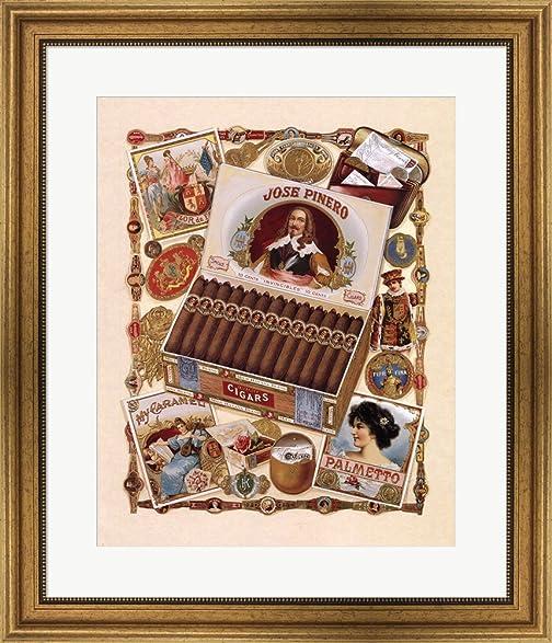 Amazon.com: Jose Pinero Cigars by Thomas Cathey Framed Art Print ...