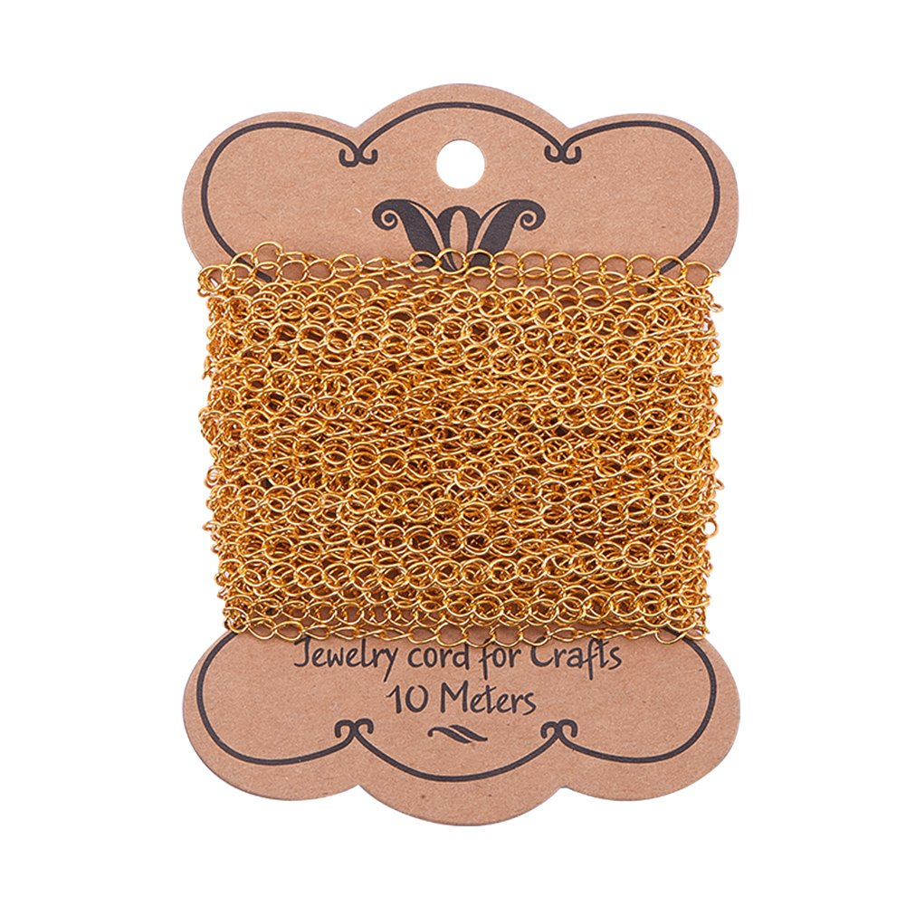 PH PandaHall 10m(32.8ft) Antique Bronze Twist Chains Link Cable Chain for Necklace Bracelet Jewelry Making 4x4.8mm wh-CH-PH0001-03AB