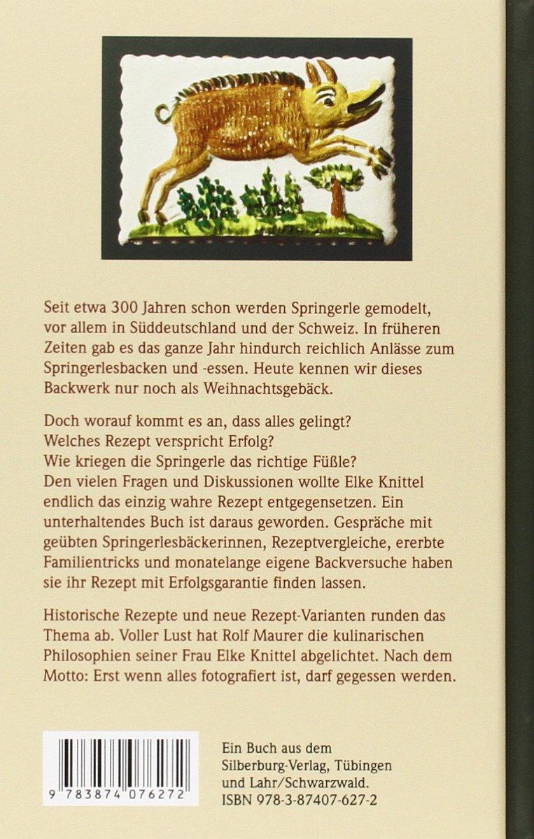 Weihnachtsgebäck Springerle.Springerles Back Lust Elke Knittel 9783874076272 Amazon Com Books