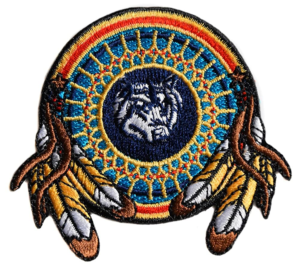 ecusson loup indien us usa moto biker eagle thermocollant 7x7cm patche badge 1