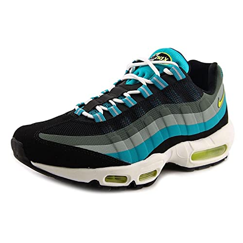 Nike Air MAX 95 No Sew Mens Running Shoes, Black/Venom Green/Turbo Green, 46 D(M) EU/11 D(M) UK: Amazon.es: Zapatos y complementos