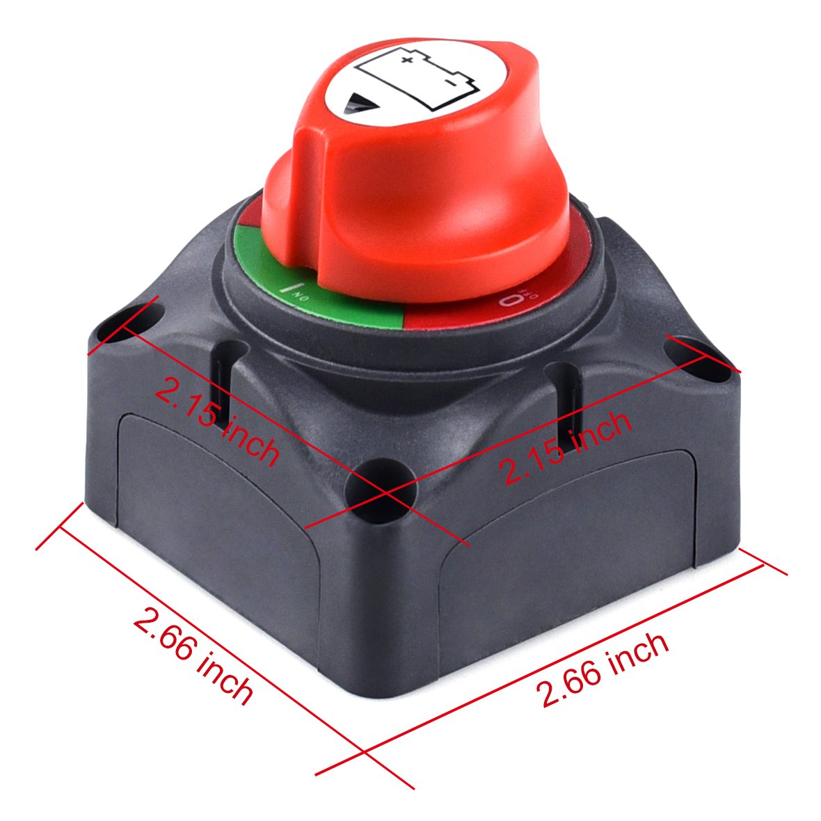 Cllena Battery Isolator Disconnect Cut Off Power Kill Switch for Car Boat Rv ATV