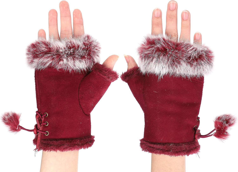 Faux Fur Fingerless Mittens...