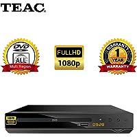 TEAC Full HD DVD Player with USB Multimedia Playback HDMI   DV450   Multi-Region   PAL, NTSC   Hotel Lock Parental Lock Compact Design   Remote Inc.