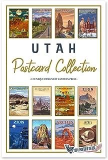 product image for Lantern Press Utah National Parks - Postcard Set of 12 Different Original Hand Illustrated Postcards …