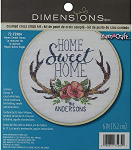 Dimensions X Stitch Kit Sweet Home, multicolored