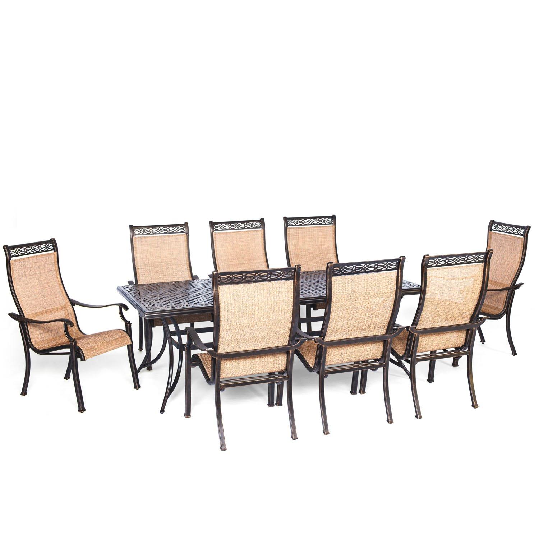 Amazon Hanover Manor 9 Piece Outdoor Dining Set Garden & Outdoor