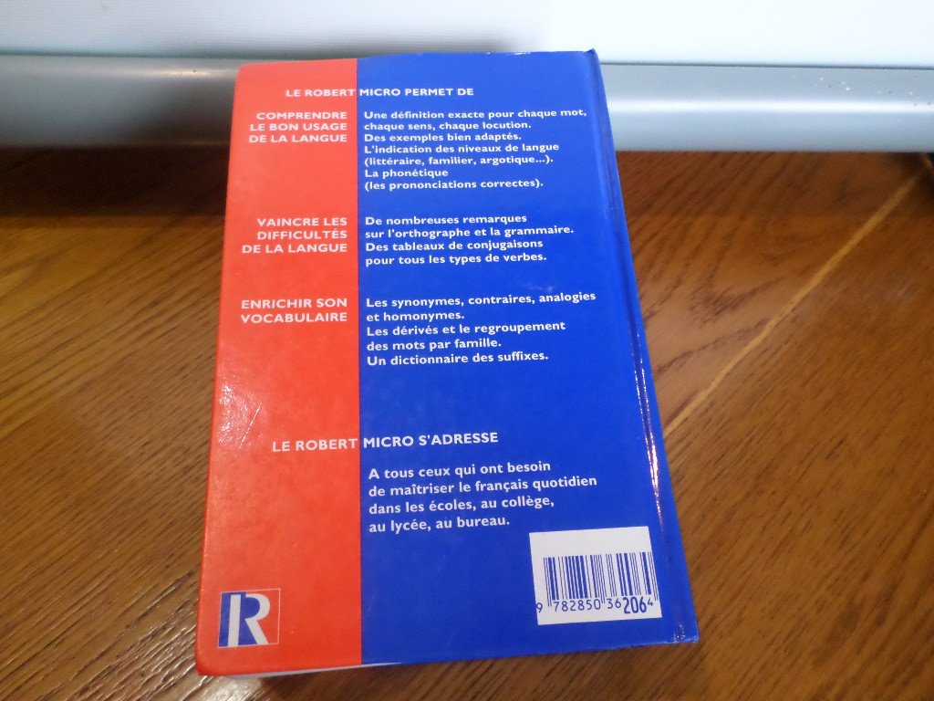 Le robert micro : dictionnaire dapprentissage de la langue