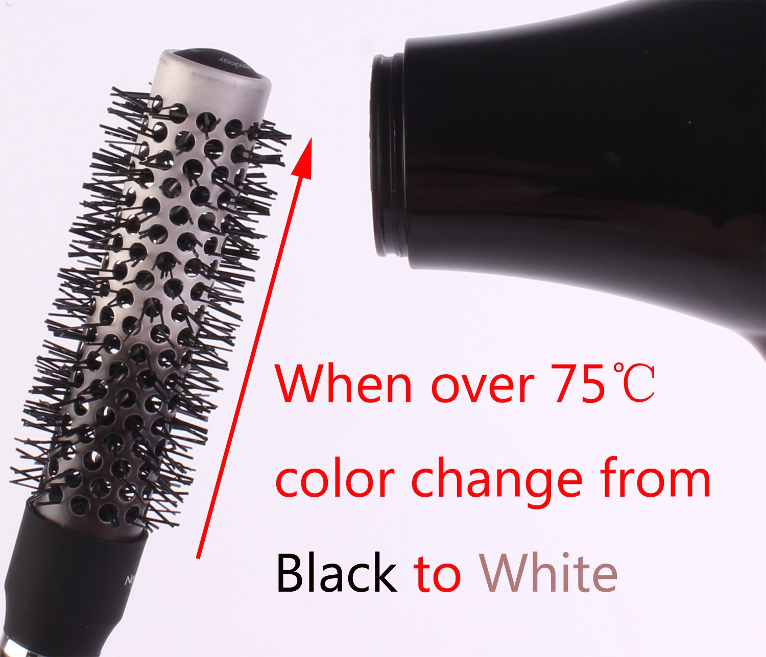 Round Thermal Brush Set, Professional Nano Ceramic & Ionic Barrel Hair Styling Blow Drying Curling Brush, 5 Different Sizes by Perfehair (Image #2)