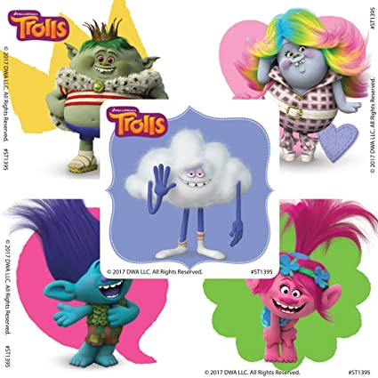 Dreamworks Trolls Friends Stickers - Prizes and Giveaways - 100 per Pack -  from SmileMakers