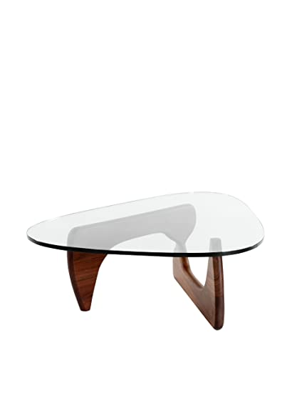 Amazon Com Stilnovo The Noguchi Coffee Table Walnut Glass Kitchen