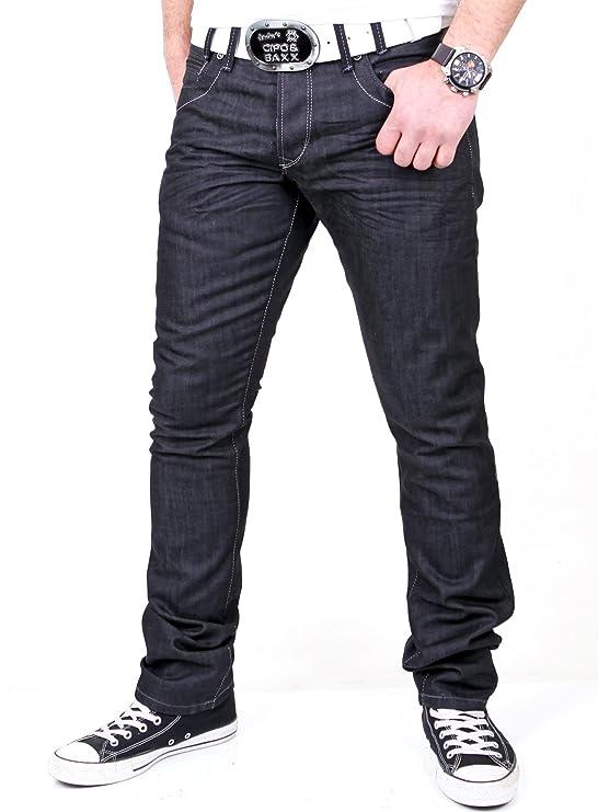 Reslad Herren Jeans Dark Washed Denim Authentic Look Jeanshose RS-5896  Schwarz W32  Amazon.de  Bekleidung 038b626ce9