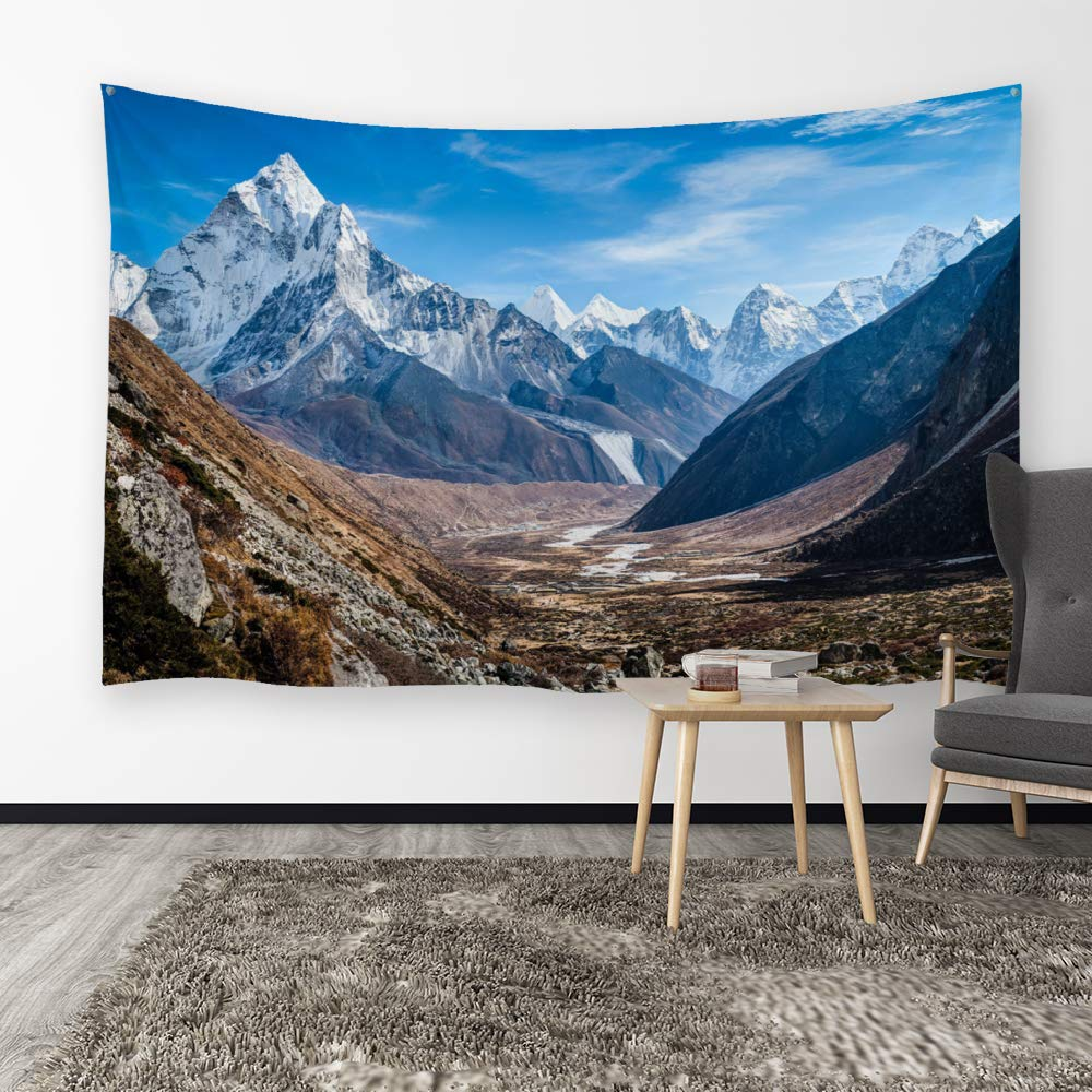 200cmx150cm - Towery Snowy Mountain 80 W x 60 L Ortigia Tapestry Wall Hanging Home Decor Mountain Theme for Living Room Bedroom Dorm Room Polyester Fabric Needles Included