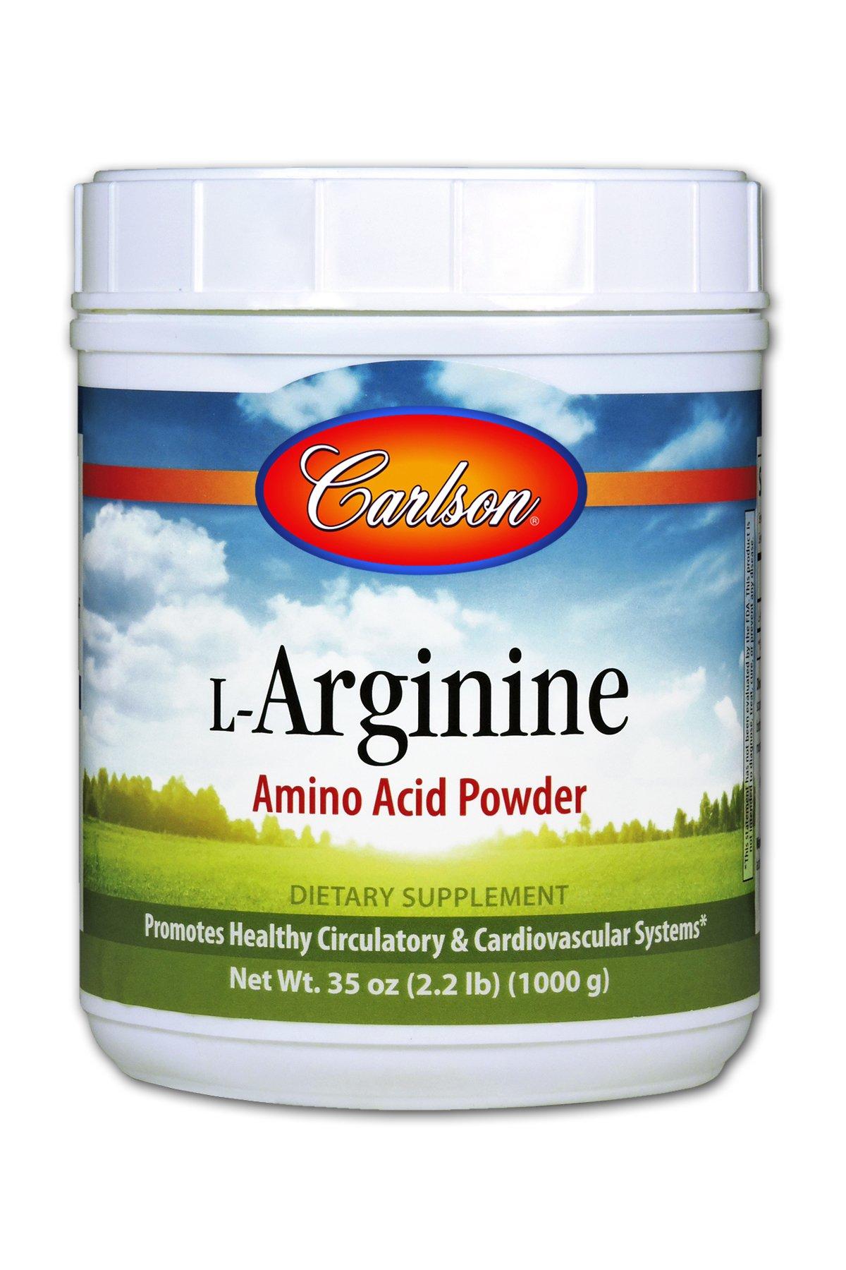 Carlson L-Arginine Powder 3 g, Amino Acid Powder, 1,000 g Jar