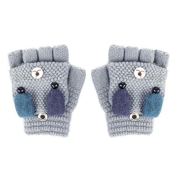 Winter Dong bambino Dei Bambini Neve guanti senza dita Modello di cane di  Inverno Caldo Guanto 62e90280e6b5