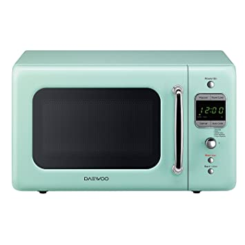 Daewoo Retro Microwave Oven, 0.7 Cu. Ft., 700W, Mint Green