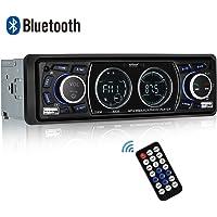 Autoradio Bluetooth, ieGeek Radio MP3 Lecteur de Voiture Stéréo avec Double Affichage LCD, Station de 18 mémoires FM Support USB/SD/AUX/Bluetooth/EQ/Télécommande