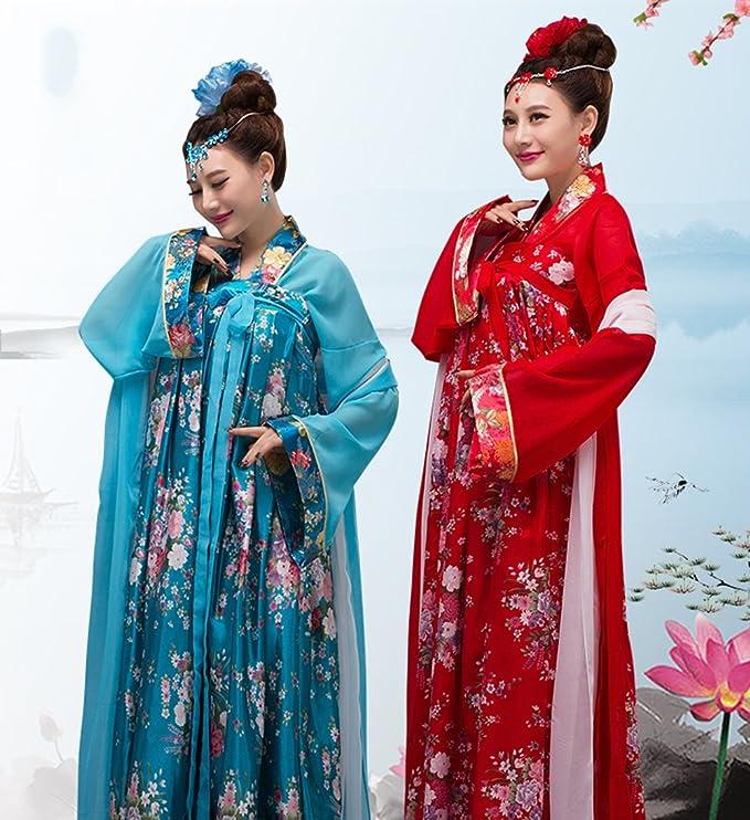 ZENGAI Antigüedad Ropa Viento Chino Hembra Pecho Vestido De Princesa Cintura Alta Mujeres Embarazadas Pijama Espectáculo De Danza (Color : A, ...