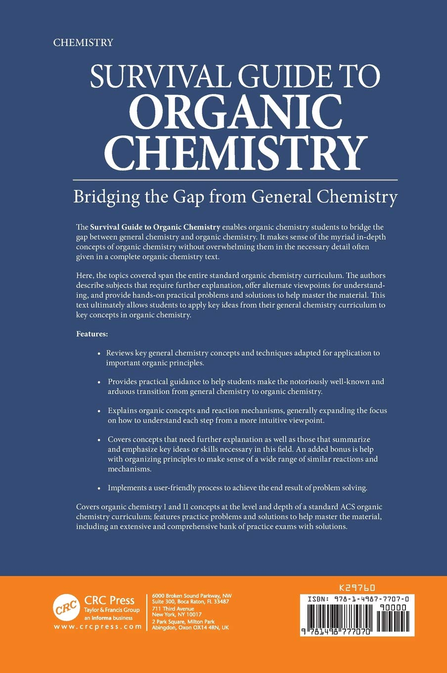 Buy Survival Guide to Organic Chemistry: Bridging the Gap from
