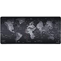 Alfombrilla raton Gaming Grandes Mouse Pad XXL 900x400x4 mm,Impermeable con Base de Goma Antideslizante,Special-textured Superficie para Gamers Ordenador, PC y Laptop (World Map)