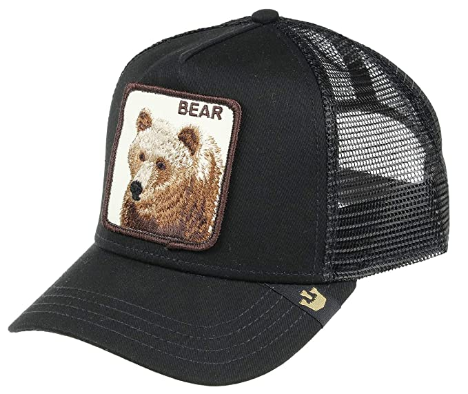 3927f6c4 Goorin Bros. Trucker Cap Big Bear Black - One-Size: Amazon.ca ...