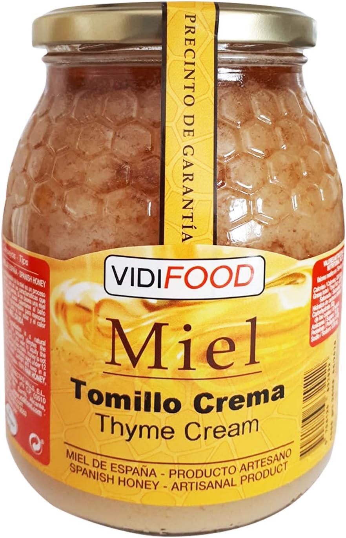 Miel de Tomillo Crema - 1kg - Producida en España - Tradicional & 100% pura - Aroma Floral y Sabor Dulce: Amazon.es: Alimentación y bebidas